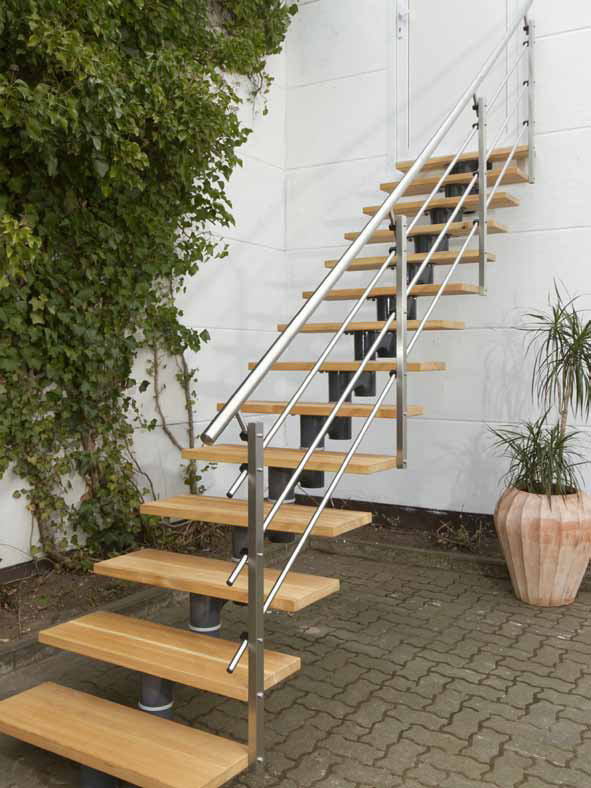 Escaliers bois ou m tal adapt ck fr for Escalier exterieur metal