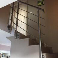 Garde coprs escalier interieur inox